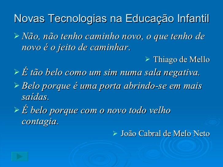 Tecnologias E Educação Infantil
