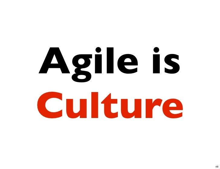 Agile isCulture           48