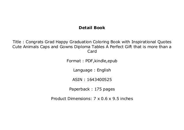 b o o k library congrats grad happy graduation coloring book i