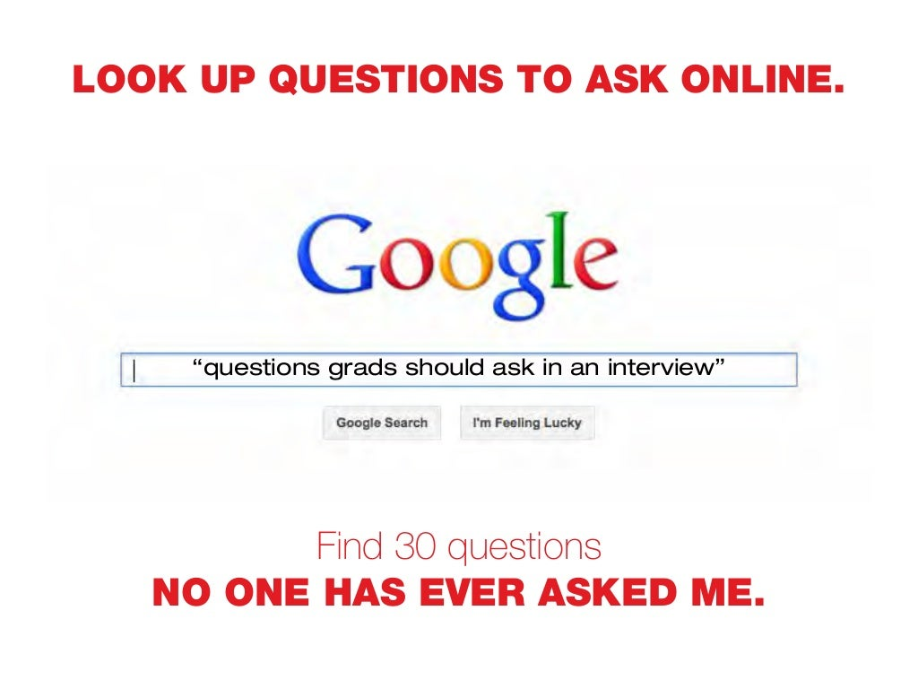 Look Up Questions To Ask
