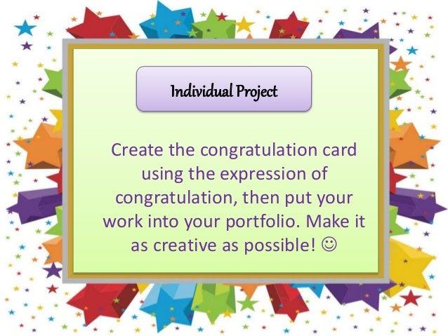 Congratulation kls 10 kurikulum 2013 11 individual project create the congratulation card m4hsunfo