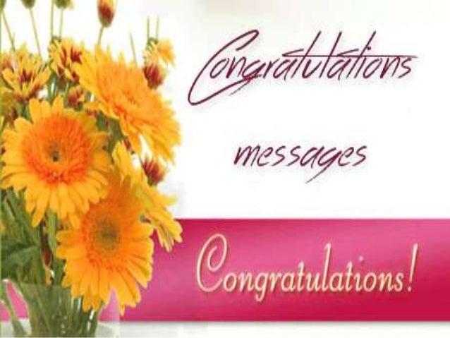 Sample Congratulations Messages