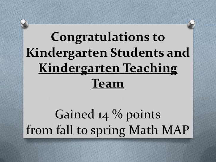 Congratulations toKindergarten Students and  Kindergarten Teaching          Team     Gained 14 % pointsfrom fall to spring...