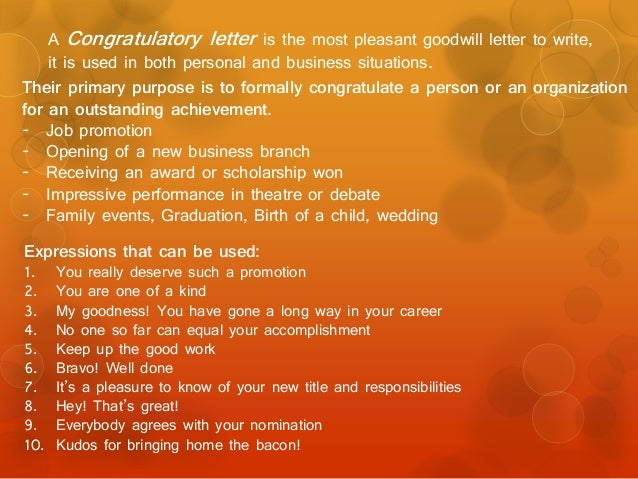 Congratulatory Letter For New Job from image.slidesharecdn.com