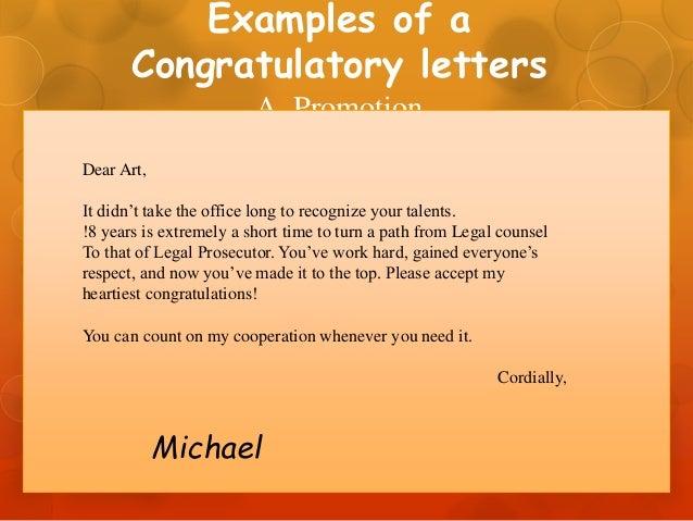 Congratulatory Letter