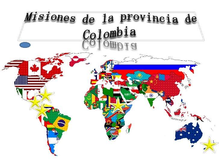 Misiones de la provincia de Colombia<br />