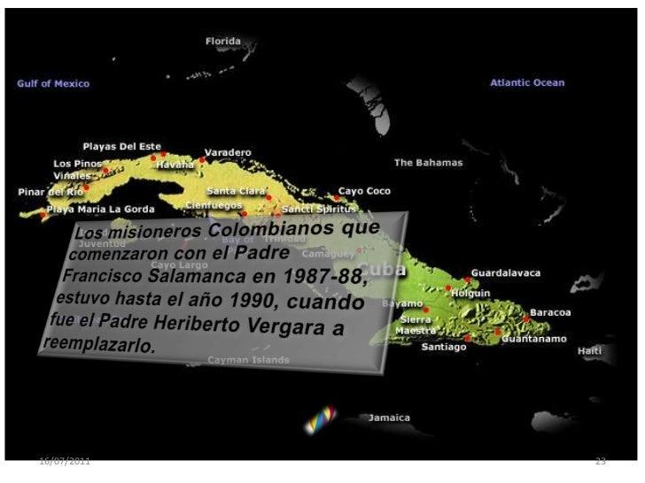 Misioneros colombianos a petición del a provincia de Barcelona llega el P Luis Hernando Alvares en el 2004:<br />Luego: P....