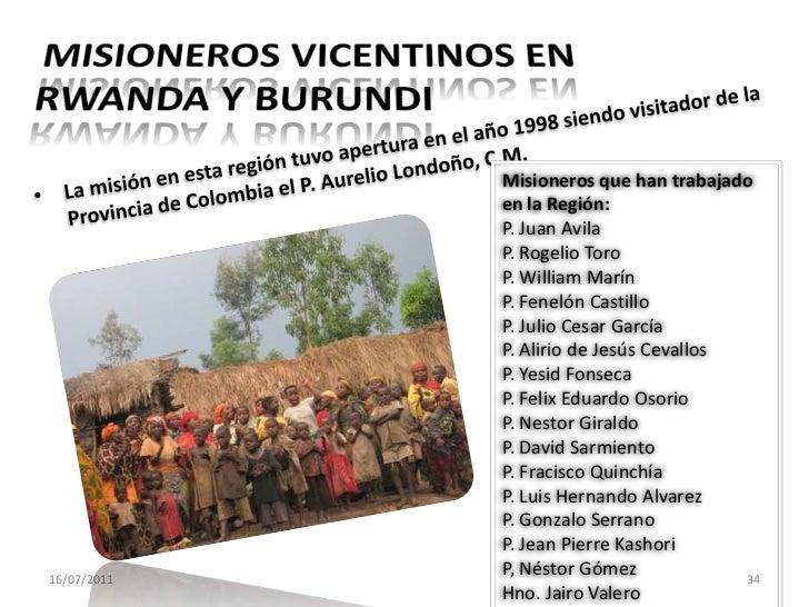REGIÓN DE RWANDA - Burundi<br />