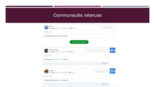 Communautés retenues