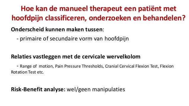 Manuele therapie bij hoofdpijn: een hoofdzaak!  Slide 3