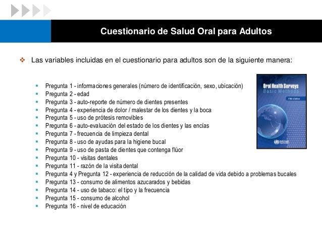 Cuestionario de Salud Oral para Adultos