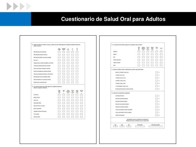 Cuestionario de Salud Oral para Niños
