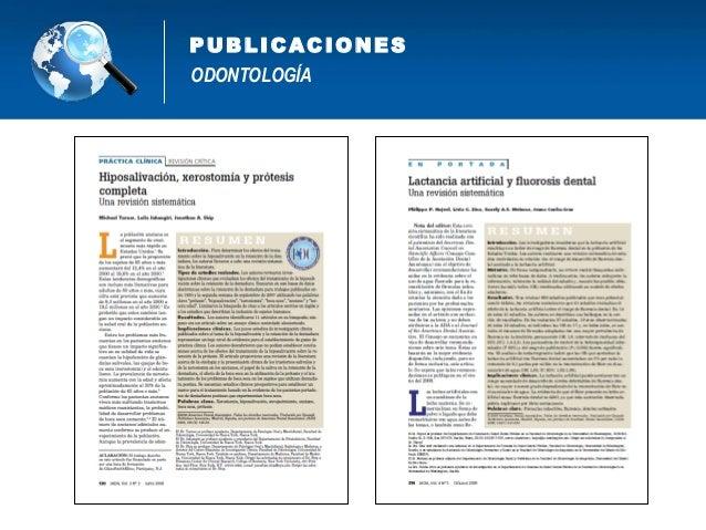 1. Áreas de desarrollo y líneas de investigación. 2. Nuevos modelos y enfoques de salud bucal. 3. Índices epidemiológicos ...
