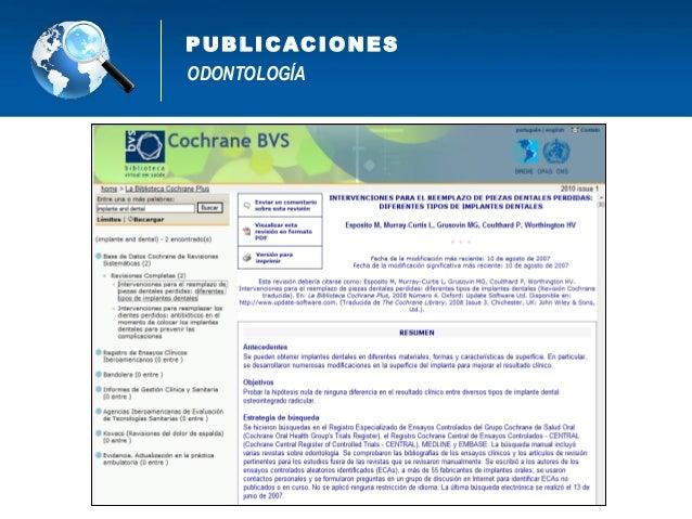 Proyectos de Investigación y Publicaciones Científicas en Odontología