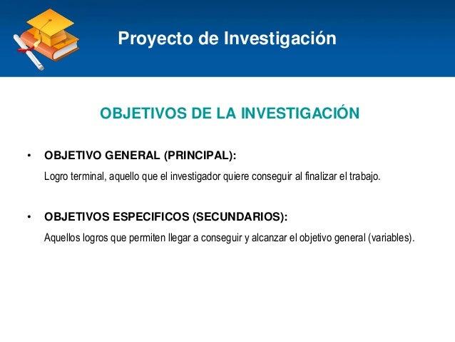 Haga clic para modificar el estilo de título del patrón OBJETIVOS DE LA INVESTIGACIÓN • OBJETIVO GENERAL (PRINCIPAL): Logr...