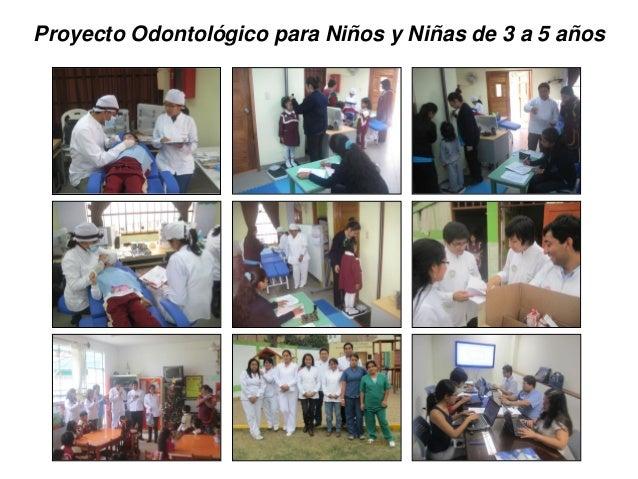 Proyecto Odontológico para Niños y Niñas de 3 a 5 años