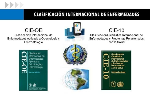 Clasificación Estadística Internacional de Enfermedades y Problemas Relacionados con la Salud  Es una clasificación siste...