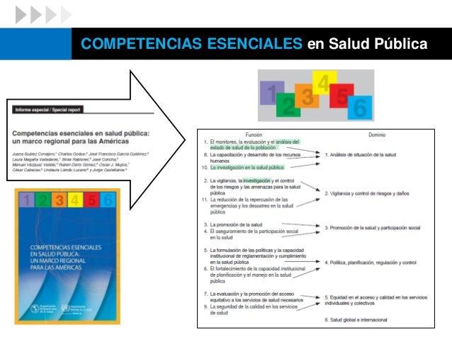 COMPETENCIAS ESENCIALES en Salud Pública