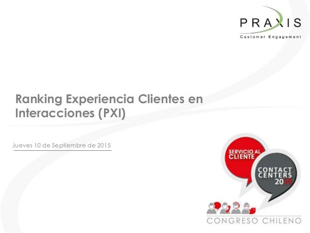 Jueves 10 de Septiembre de 2015 Ranking Experiencia Clientes en Interacciones (PXI)