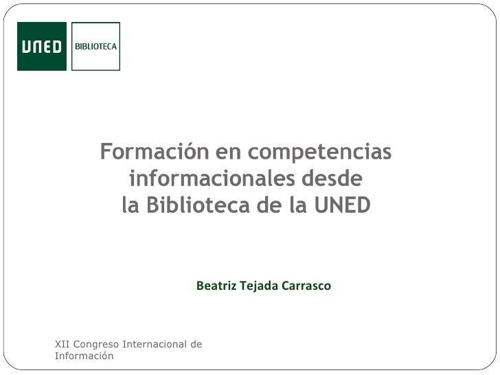 Formación En Competencias Informacionales Desde La