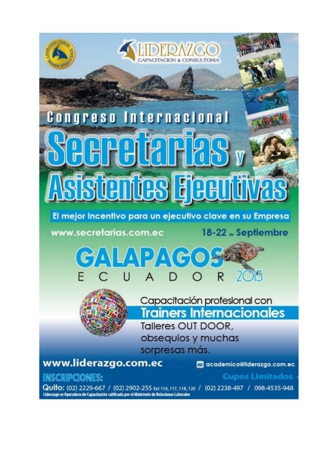 Presenta: Galápagos - Ecuador 18 al 22 de Septiembre 2.013 Islas Encantadas Archipiélago de Colón Océano Pacífico ubicado ...