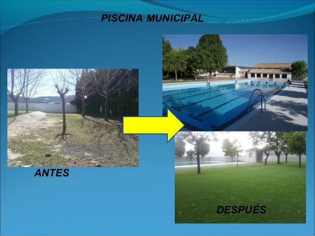 Dos a os de gobierno del partido popular en puebla de don for Piscina municipal camilo cano
