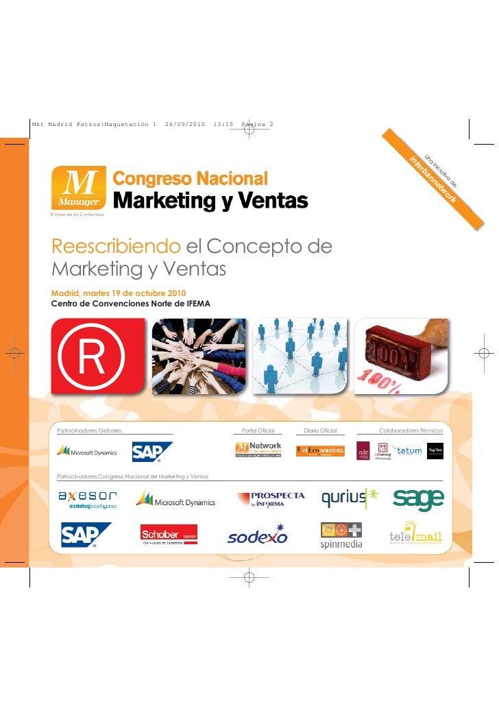 Programa Congreso Nacional de Marketing y Ventas -Madrid 2010