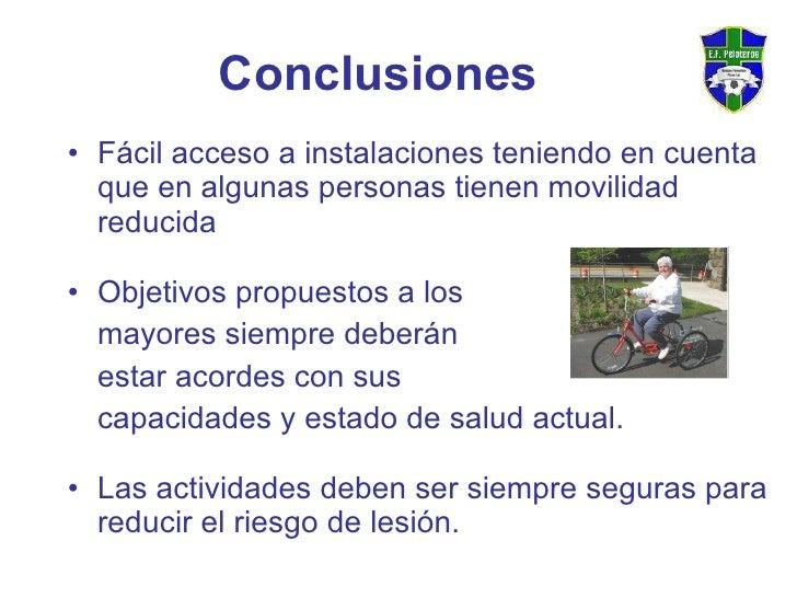 <ul><li>Fácil acceso a instalaciones teniendo en cuenta que en algunas personas tienen movilidad reducida </li></ul><ul><l...