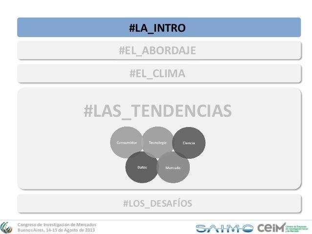 Congreso SAIMO-CEIM: Presentación Tendencias Innovadoras en Investigación de Mercados Slide 3