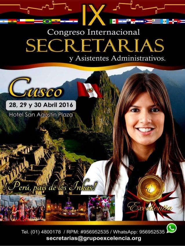 Congreso Internacional de Secretarias - Cusco, Peru 2016