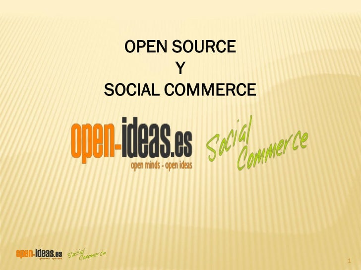 OPEN SOURCE        YSOCIAL COMMERCE                  1