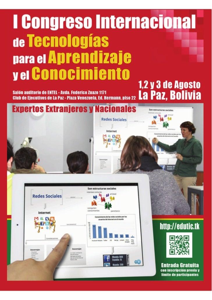 [ Instituciones Organizadoras ]    [ Instituciones Patrocinadoras]La Embajada del Estado    Plurinacional de Bolivia en Es...