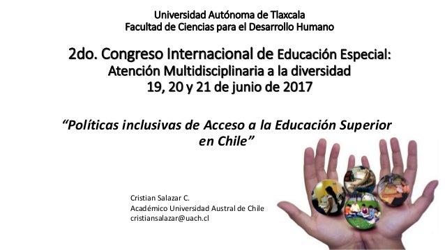 Universidad Autónoma de Tlaxcala Facultad de Ciencias para el Desarrollo Humano 2do. Congreso Internacional de Educación E...
