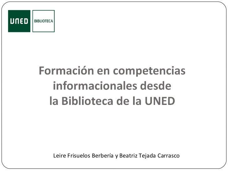 Leire Frisuelos Berbería y Beatriz Tejada Carrasco