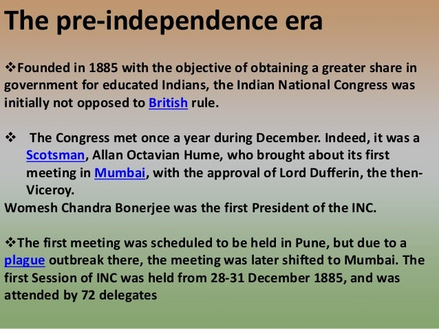 objective of indian national congress
