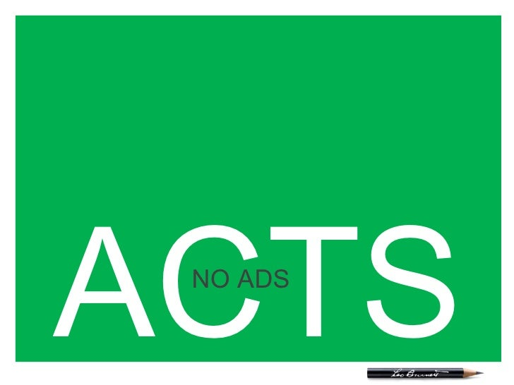 ACTS NO ADS