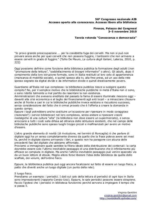 56º Congresso nazionale AIB Accesso aperto alla conoscenza. Accesso libero alla biblioteca Firenze, Palazzo dei Congressi ...