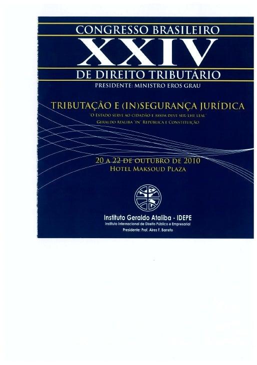 Congresso brasileiro de direito tributário