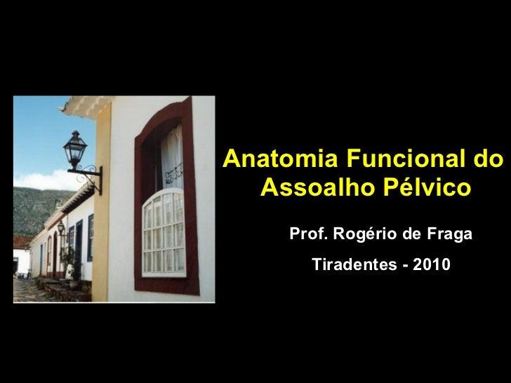 Anatomia Funcional do  Assoalho Pélvico Prof. Rogério de Fraga Tiradentes - 2010