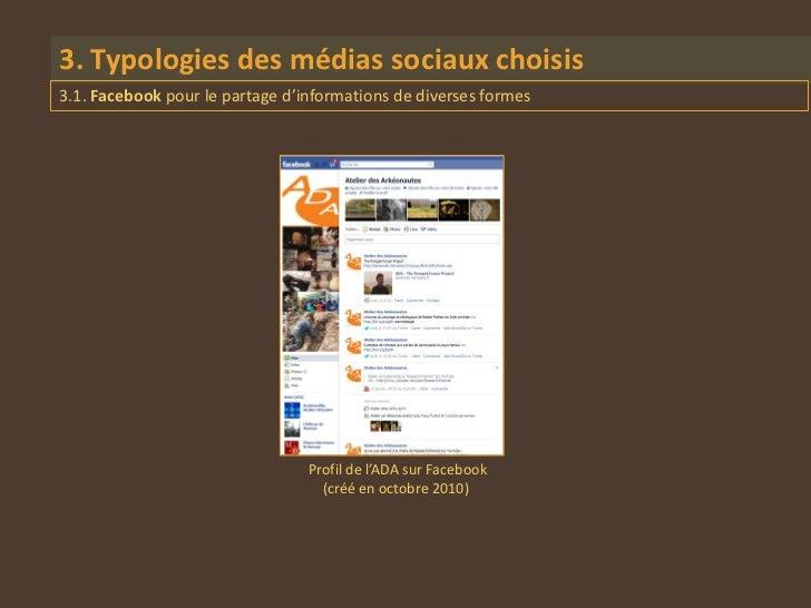 3. Typologies des médias sociaux choisis3.1. Facebook pour le partage d'informations de diverses formes                   ...
