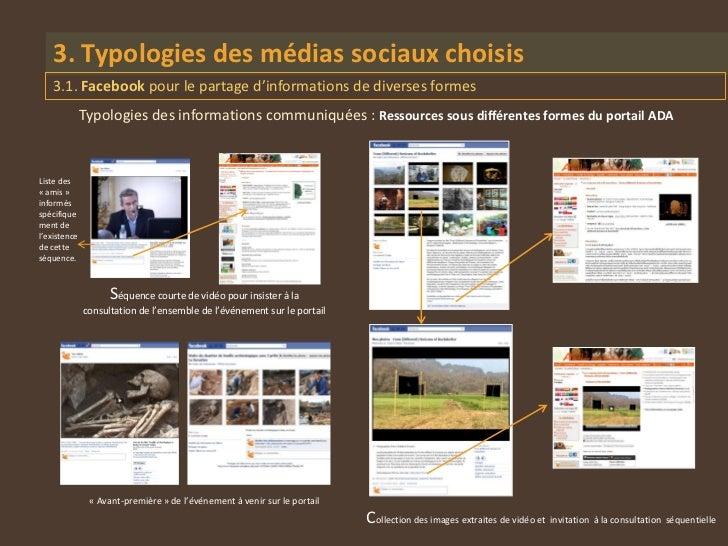 3. Typologies des médias sociaux choisis    3.1. Facebook pour le partage d'informations de diverses formes              T...