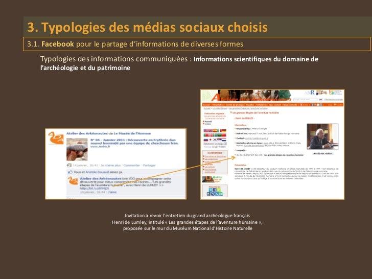 3. Typologies des médias sociaux choisis3.1. Facebook pour le partage d'informations de diverses formes   Typologies des i...