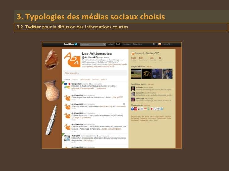 3. Typologies des médias sociaux choisis3.2. Twitter pour la diffusion des informations courtes
