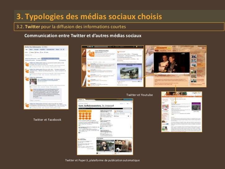 3. Typologies des médias sociaux choisis3.2. Twitter pour la diffusion des informations courtes    Communication entre Twi...