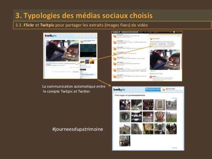3. Typologies des médias sociaux choisis3.3. Flickr et Twitpic pour partager les extraits (images fixes) de vidéo         ...