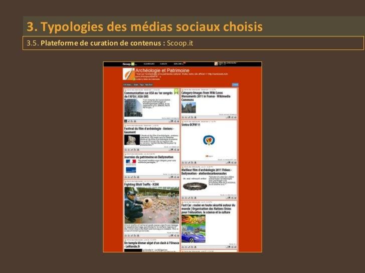 3. Typologies des médias sociaux choisis3.5. Plateforme de curation de contenus : Scoop.it