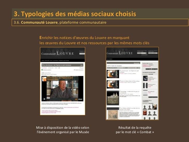 3. Typologies des médias sociaux choisis3.6. Communauté Louvre, plateforme communautaire             Enrichir les notices ...