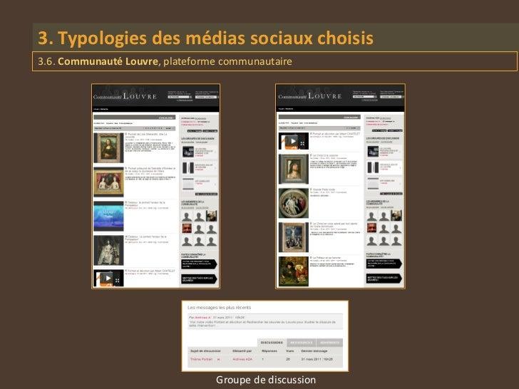 3. Typologies des médias sociaux choisis3.6. Communauté Louvre, plateforme communautaire                                 G...