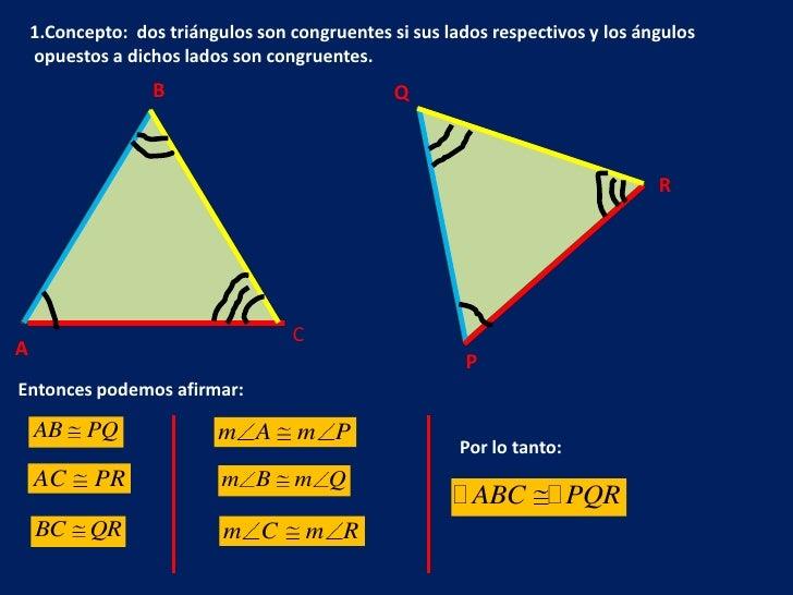 Congruencia de triángulos Slide 2