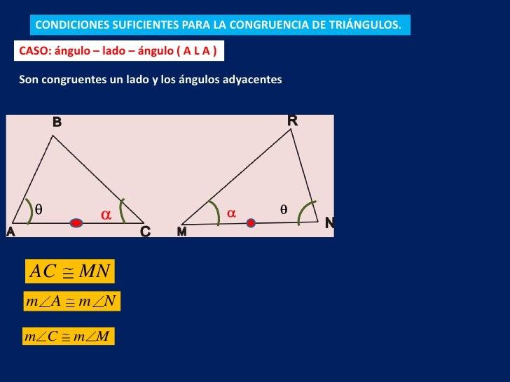 Congruencia de triángulos Slide 3